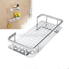 space aluminum bathroom shelf bath shampoo towel basket rack wall
