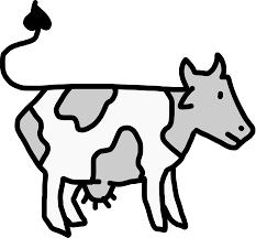 clipart cow cartoon style