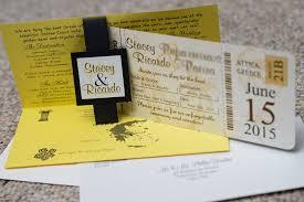 wedding invitations gold coast brown boarding pass wedding invitations to golden coast in attica