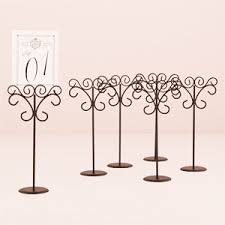 wedding table number holders black ornate wire table number holder 6 pcs wedding table