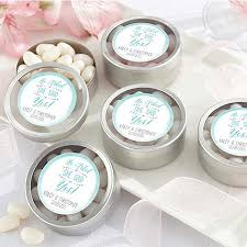 mint to be favors personalized silver mint tin engagement favors he asked
