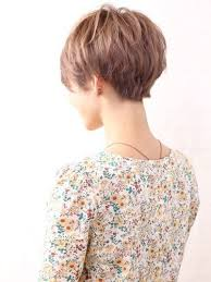 hair cut back of hair shorter than front of hair this is the back of a pixie cut that s not too short a bit fuller