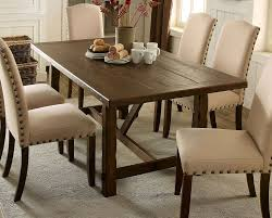 brentford rustic trestle dining table set with extension leaf