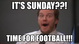 Football Sunday Meme - it s sunday time for football shocked andy dwyer meme