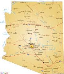 Arizona Map With Cities And Towns by Arizona Map Blank Political Arizona Map With Cities
