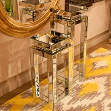 Pedestal Table Small Mirrored Pedestal Table 11184 The Home Depot