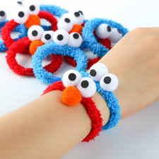 bracelet bands rubber images 10 pcs lot sesame street plush hair bands cartoon elmo rubber band jpg