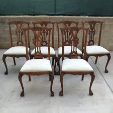french style 8 leg table with chippendale dining chairs wonderful