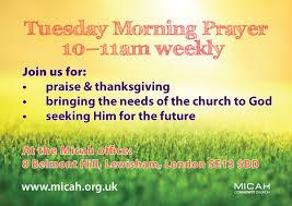 christian ministries tuesday morning prayer