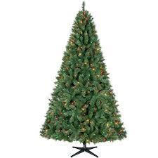 time pre lit 7 5 kennedy tree green multi