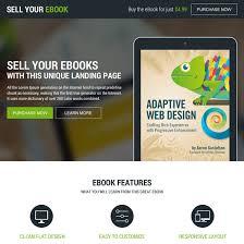 e book landing page design templates to increase sales of your e