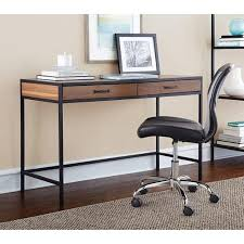 Walmart Home Office Desk Mainstays Metro Desk Warm Ash Finish Walmart Productivity