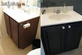 Black Bathroom Vanity Set How To Paint White Bathroom Cabinets Black Nrtradiant Com