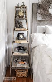 Upcycled Side Table Make An Upcycled Stepladder Side Table With Shelves Instantly