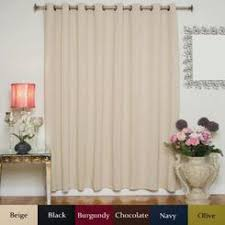 Extra Wide Thermal Curtains Extra Width Thermal 84 Inch Blackout Curtain Panel