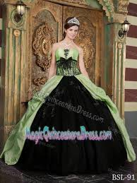 and black quinceanera dresses appliques and bowknot yellow green and black quinceanera dresses