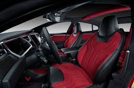 tesla model 3 interior seating tesla model s is red and ready for christmas thanks to vilner