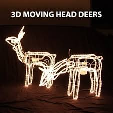 Christmas Rope Lights Australia by Set Of 2 3d Reindeer Motif Christmas Rope Light Auction 0009