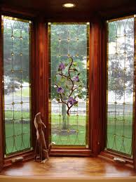 interior small bay window design with plant ornament modern bay