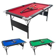 6 ft billiard table 6 ft deluxe folding billiard pool table with set of pool balls 2