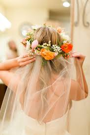 collections of wedding veil with flower crown cute hairstyles