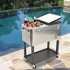 patio beverage cooler cart patio beverage cooler cart durable stainless steel