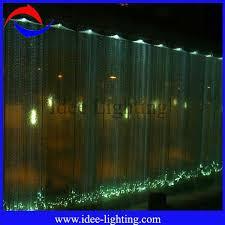 led fiber optic waterfall light curtain