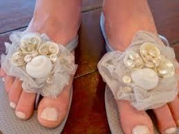 seashell flip flops great for a wedding flower girl seashell flip flops