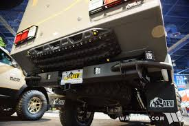 aev jeep rear bumper 2017 sema aev outpost ii jeep jk wrangler camper