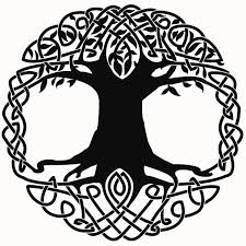 image gallery of celtic tree of outline