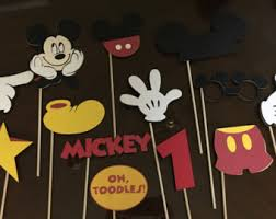 mickey mouse photo booth props mickey mouse photo booth props etsy