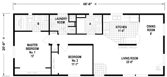 Floor Plans For Mobile Homes Double Wide Union 20 X 48 960 Sqft Mobile Home Factory Expo Home Centers