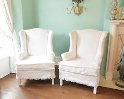 wing chair slipcover wing chair slipcover etsy