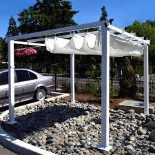 aleko 10 x 10 feet grape trellis pergola outdoor canopy gazebo