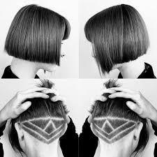 Undercut Frisuren Frau Lange Haare by Undercut Frisuren Kurze Haare Geometrisch Muster Rasieren Jpg 750