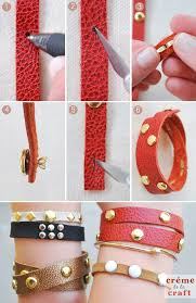 bracelet craft diy images Diy leather studded wrap bracelet jpg