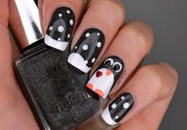 amazing penguin nail art