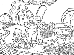 45 coloring pages simpsons images