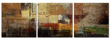 Earth Tone Pictures by Ready2hangart U0027earth Tone Abstract Iv U0027 3 Pc Canvas