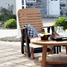 Outdoor Single Glider Chair Poly Lumber U0026 Polywood Glider Chairs