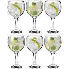 6 party cocktail glasses set quality gift wedding drinks spanish
