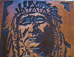American Indian Decorations Home Custom Made Native American Indian Chief Handmade Wood Carving