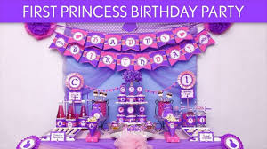 Balloon Decoration For Birthday At Home by 1st Birthday Princess Balloon Decoration Ideas Youtube