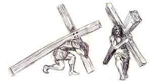the bible illustrated jesus on the cross
