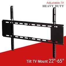 Tv Wall Mount 150 Lbs 22 65 Dual Arm Slim Lcd Led Plasma Flat Tilt Tv Wall Mount Bracket