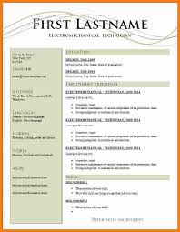resume templates free for microsoft word free c v format in ms word venturecapitalupdate
