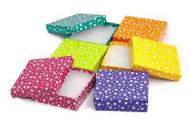 polka dot boxes polka dot jewelry box 33 cotton filled cardboard jewelry