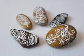 beach pebbles art miniature boho home decor office gifts