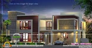 Home Design 1900 Square Feet Contemporary House With Double Height Living Kerala Home Design