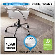 Office Chair Mat For Laminate Floor Es Robbins 46x60 Rectangle Chair Mat Economy Series For Hard